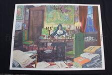 C677 Affiche scolaire vintage Colbert Comédie de Molière Rossignol école