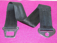 1965 1966 Ford Mustang Fastback Coupe Convertible GT ORIG BLACK FRONT SEAT BELT