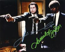 John travolta + samuel l. jackson + + autógrafo + + Pulp Fiction + + Grease