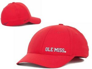 New NWT Ole Miss Mississippi Rebels Nike NCAA Dri Fit Players Swoosh Flex M/L