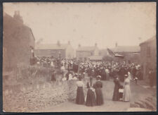 Unknown Location Real Photo - Large Unidentified Village Gathering - Ref.DD86