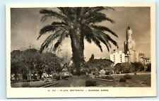 *Plaza Britanica Brazil Buenos Aires Argentina Vintage Real Photo Postcard C61