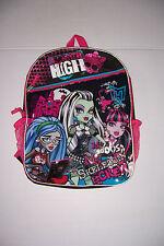 Monster High mi Skeleton Crew Mochila Niñas 16 Pulgadas Mochila Escolar Nuevo Con Etiquetas!