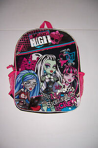 "MONSTER HIGH MY SKELETON CREW BACKPACK GIRLS 16"" SCHOOL BACKPACK NWT!"