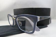 Prada VPR 09S UEE-1O1 BlueGrey/Clear/Gold New Authentic Eyeglasses 51mm w/Case