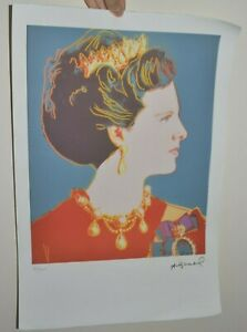 ANDY WARHOL LITHOGRAPH LTD ED 100 QUEEN MARGARIT LEO CASTELLI ARCHES PAPER 15X22