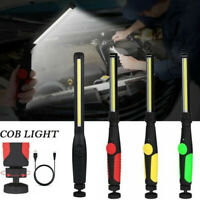 410 Lumen Rechargeable COB LED Slim Work Light Lamp Torch Flashlight + USB Cable