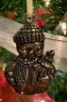 Gorham Silver Vintage Snowman Christmas Tree Ornament