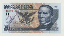 Mexico 20 Pesos 25-8-2000 75 Anniversary Pick 111 UNC Uncirculated Banknote