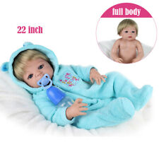 Full Vinyl Silicone Handmade Reborn Baby Dolls Newborn Boy Doll Gifts 22'' 55cm