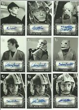 2018 Topps Star Wars A New Hope Black & White Auto Autograph Card - YOU PICK