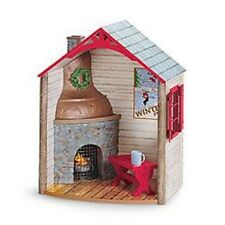 American Girl Doll Winter Chalet Hot Chocolate Fireplace House Scene NEW!!