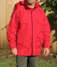 Vintage WOOLRICH Red Winter Jacket Coat Men Size Large Plaid Wool Blanket Lining