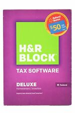 H&R Block 2014 DELUXE Homeowner/Investor Tax Software FEDERAL ONLY