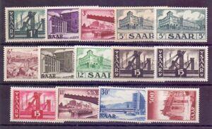 Saarland Ansichten 1952 - MiNr. 319/337 postfrisch - Michel 48,00 € (484)