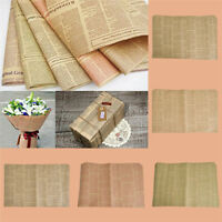 10pcs Newspaper Gift Wrapping Paper Creative Design Xmas Birthday Party Props