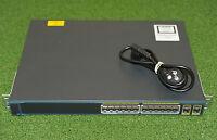 Cisco WS-C2960-24PC-L Catalyst 2960 24-Port PoE Network Switch - 1YrWtyTxInv