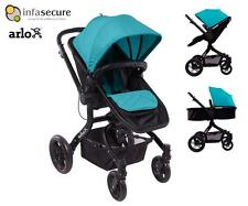 InfaSecure Arlo Stroller Pram Reversible Seat and Handle Aqua