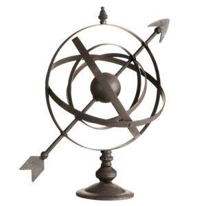 Decorative Armillary Sphere Cast Iron Vintage Style Garden Lawn Ornament