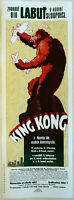 XL HiQ Facsimile 1933 King Kong Movie Poster~Czech 36 x 13
