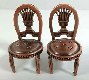 Pewter Place Card Holders Chair Dollhouse Miniature Size Chair Vintage Furniture