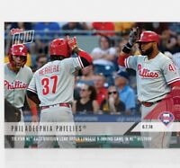 2018 Topps NOW MLB 422 Phillies Tie For NL East Lead After Longest 9 Inning Game