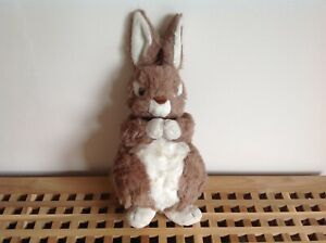 """VINTAGE 80's Bunny Rabbit Soft Plush Toy 17"""" Tall Excellent Condition"""