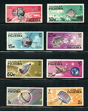 Fujeira  1966  #Mi70-7   space satellites     8v.  MNH   H525