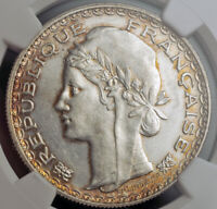 1931, French Indo-China. Silver Piastre (Colonial Trade Dollar) Coin. NGC AU-58!