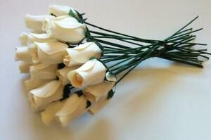 Aariel's Attic 24 Beautiful Realistic Ivory White Wooden Standard Version