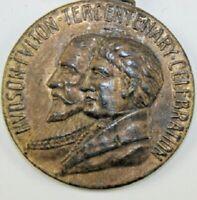 Antique 1909 Hudson-Fulton Tercentenary Celebration Medal/Medallion New York USA