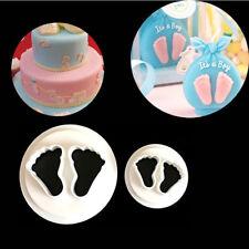 2x Newborn Baby Feet Icing Cutter Cake Mould Fondant Decoration Mold Sugar craft