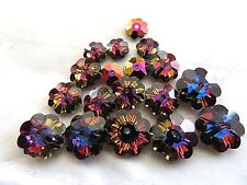 Crystal Volcano Swarovski Margarita Beads 3700 6mm 8mm 10mm 6 Pieces Each Size