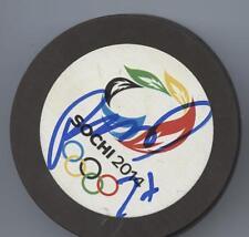 RYAN McDONAGH SIGNED AUTOGRAPH 2014 SOCHI OLYMPIC USA HOCKEY PUCK w/ COA