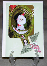 Origami Folded Dollar Star Handcrafted Greeting Card, Baby's First Christmas