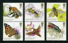 2020 United Kingdom, Brilliant Bugs, insect pollinators, butterfly, 6 stamps MNH