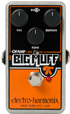 Electro-Harmonix OP AMP BIG MUFF Pedal with 2 Patch Cables