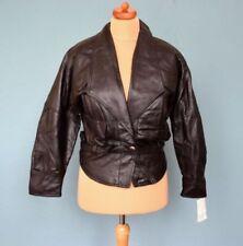Leather Basic Regular Vintage Coats & Jackets for Women