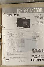Service Manual für Sony ICF-7601 / 7601L