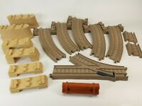 Thomas Friends Trackmaster Brown Track Toy - 15 Pcs - Curved Track Switch Bridge