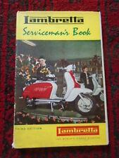Lambretta Servicemans workshop Manual book LI TV