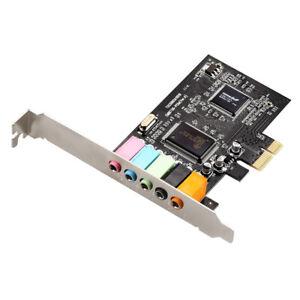 PCI-e Sound Card 5.1 Channel Surround Sound 3.5mm Audio Output for Windows 10