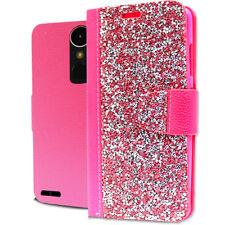 LG M250 K20 Plus Harmony Rock Diamond Fashion Wallet Case Hot Pink