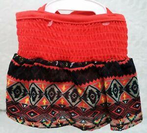 TOP PAW Orange Fest Print Dog Dress (XL) (NEW)