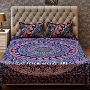 Handmade Quilt Cover Duvet Doona Cover Indian Mandala Bohemian Queen Bedding Set