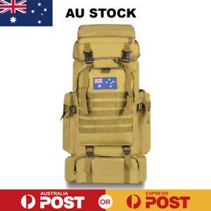 80L Military Tactical Rucksack Backpack Hiking Camping Outdoor Trekk Bag
