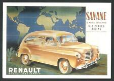 Renault Savane del 1951 - cartolina riproducente pubblicità d'epoca