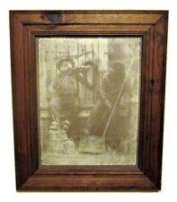 R Hendrickson Bearded Men Washtub Bass Violin Pickers Print Framed 18x15 Folk