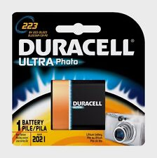 NEW!! Duracell Ultra Lithium Camera Battery 223 6 volts