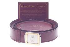 Cartier CEINTURE santos certificat Belt ceintiure Cuir Gold-palladium-Finish